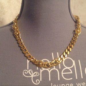 Trifari Gold Tone Linked Necklace